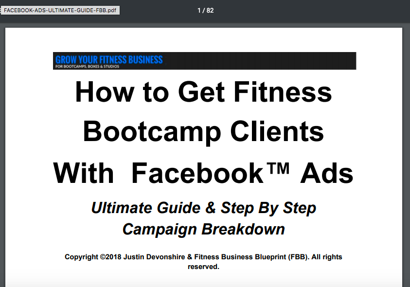 Fitness business Facebook ads guide
